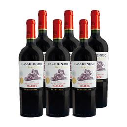 Vino Casa Donoso Bicentenario Gran Reserva Malbec Botella 750cc x6
