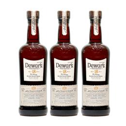 Whisky Dewars 18 Años Botella 750cc x3