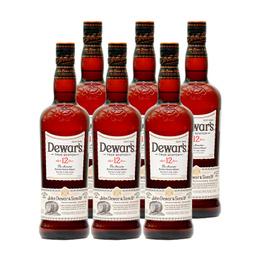 Whisky Dewars 12 Años Botella 750cc x6