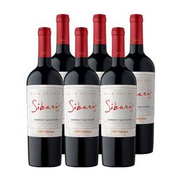 Vino Undurraga Sibaris Cabernet Sauvignon Botella 750cc x6