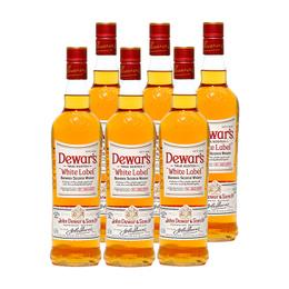 Whisky Dewars 6 Años Botella 750cc x6