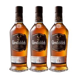 Whisky GlenfiddichSingle Malt 18 Años Botella 750cc x3