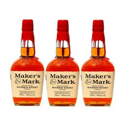 Bourbon Whiskey Makers Mark 45° Botella 750cc x3