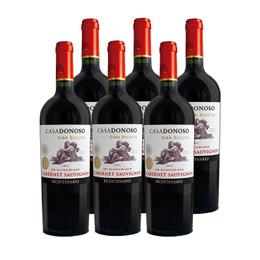 Vino Casa Donoso Bicentenario Gran Reserva Cabernet Sauvignon Botella 750cc x6