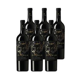 Vino Diablo Black Cabernet Sauvignon Botella 750cc x6