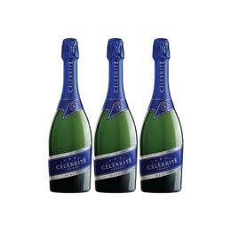 Espumante Francés Celebrite Demi Sec Botella 750cc x3