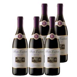 Vino Santa Emiliana Merlot Botella 700cc x5