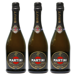 Espumante Martini Brut Botella 750cc x3