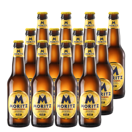 Cerveza Moritz Lager Botella 330cc x12