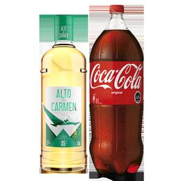 Pack Pisco Alto del Carmen 35° Botella 1.5 Lts + Coca Cola 3Lts