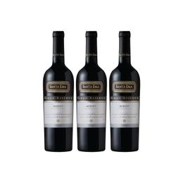 Vino Santa Ema Gran Reserva Merlot Botella 750cc x3