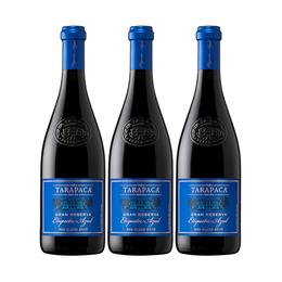 Vino Tarapacá Gran Reserva Etiqueta Azul Botella 750cc x3