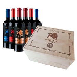 2 Vinos Bestia Negra + 2 Bestia Roja + 2 Bestia Azul Merlot Botella 750cc