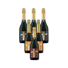 Pack Espumantes Misiones de Rengo 3 Brut + 2 Moscato + 1 Demi Sec Botella 750cc