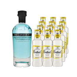 Pack Gin London Nº1 Botella 700cc + 12 Britvic Tonica Botella 200cc