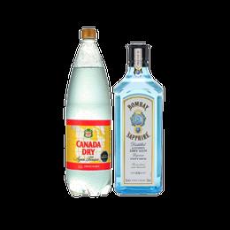 Pack Gin Bombay Sapphire Botella 750cc + Canada Dry Tonica Botella 1.5Lts