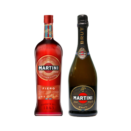 Pack Martini Fiero + Espumante Martini Brut Botella 750cc