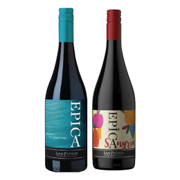 Pack Vino Epica Pinot Noir + Sangría Botella 750cc