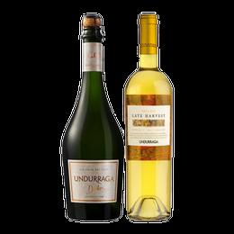 Pack Espumante Undurraga Dulce + Late Harvest Botella 750cc