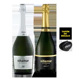 Pack Espumante Viñamar Brut + Ice Botella 750cc + Tapón Viñamar de Regalo
