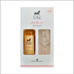 Pack Vino Toro de Piedra Late Harvest Botella 375cc + Copa