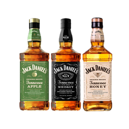 Pack Jack Daniels N7 + Honey + Apple Botella 750cc