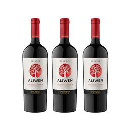 Vino Organico Aliwen Cabernet Sauvignon Botella 750cc x3