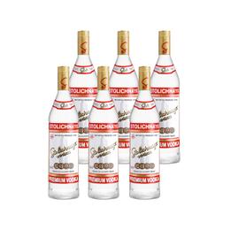 Vodka Stolichnaya Botella 1Lt x6