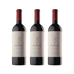 Vino Sutil Acrux Red Blend Premium Botella 750cc x3
