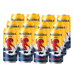 Cerveza Austral Patagonia Red Lager Lata 470cc x12
