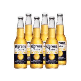 Cerveza Corona Lager Botella 330cc x6