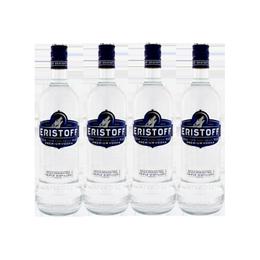 Vodka Eristoff Botella 700cc x4
