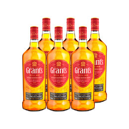 Whisky Grants Botella 1Lt x6