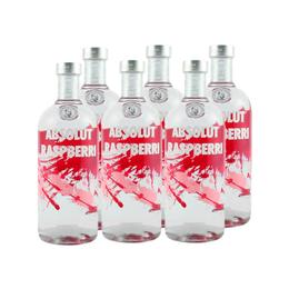 Vodka Absolut Raspberri Botella 750cc x6