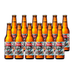 Cerveza Mahou 5 Estrellas IPA Botella 330cc x12