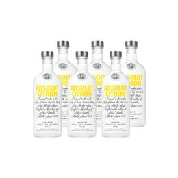 Vodka Absolut Citron 750cc x6