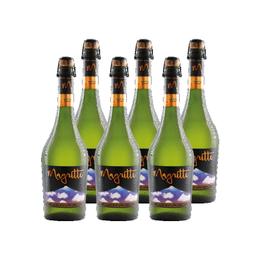 Sidra Espumante Premium Magritte Apple Brut Botella 750cc x6