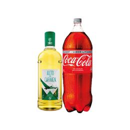 Pack Alto del Carmen 35° Botella 1Lt + Coca Cola Light 3Lt
