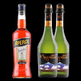 Pack Aperol Botella 750cc + Magritte Premium Cider Sparkling Botella 750cc x2