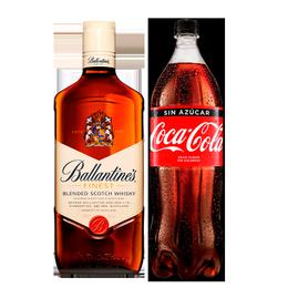 Whisky Ballantines 40° Botella 750cc + Coca Cola Zero Botella 1.5 Lts