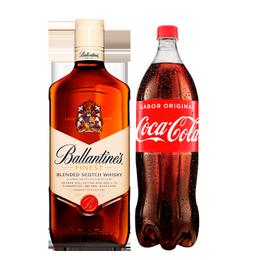 Whisky Ballantines 40° Botella 750cc + Coca Cola Botella 1.5Lts