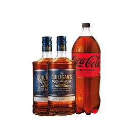 Pack 2x Whisky The Guiligan´s + 1x Coca Cola Zero 3Lts
