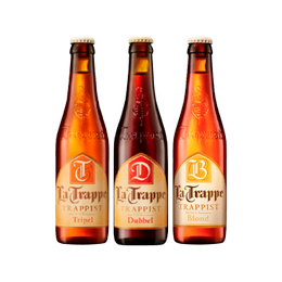 Pack Cerveza La Trappe 330cc Dubbel x1 + Blond x1 + Tripel x1