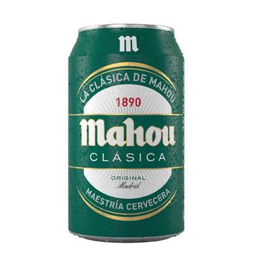 Cerveza Mahou Clasica Lata 330cc