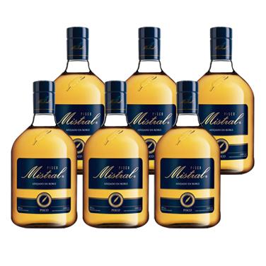 Pisco Mistral 35º Botella 1Lt x6