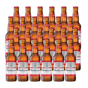 Budweiser Lager Botella 355cc x24