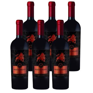 Vino Bestia Negra Cabernet Sauvignon Botella 750cc x6