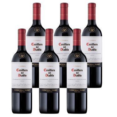 Vino Casillero del Diablo Cabernet Sauvignon Botella 750cc x6