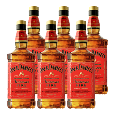 Whiskey Jack Daniels Fire Botella 750cc x6