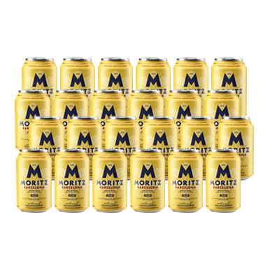 Cerveza Moritz Lager Lata 330cc x24